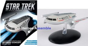 Star Trek Official Starships Collection USS Enterprise Shuttlecraft Jefferies Concept Eaglemoss